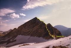 Rock Climbing Photo: Treasure Peak - Southwest Ridge.