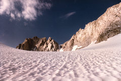 Rock Climbing Photo: Suncups on the Abbot Glacier - Mount Dade behind.