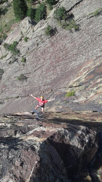 Rock Climbing Photo: Brad White at the 1st belay.  My first time up Ros...