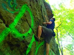 "Rock Climbing Photo: Playing around on ""Frosted Flakes"" earli..."