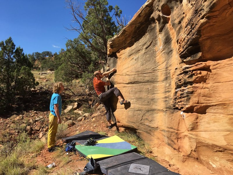 Rock Climbing Photo: Bag on the start of Backdoor Man.