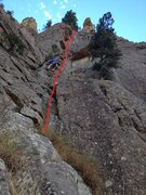 Rock Climbing Photo: The route follows the line to the right of the cli...