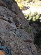 Rock Climbing Photo: Right below what seems like the crux.