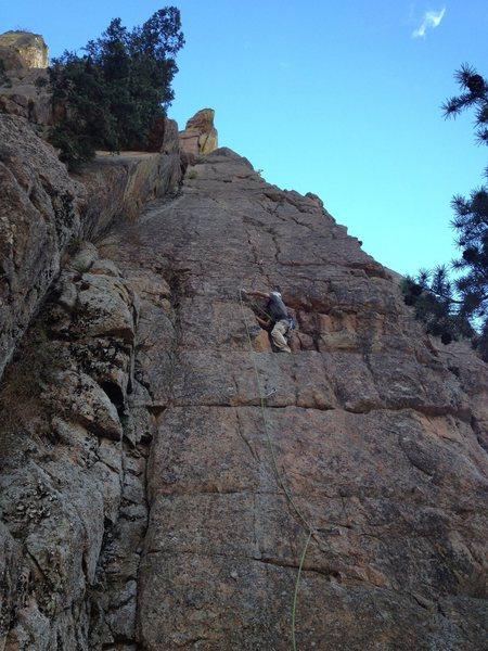Rock Climbing Photo: Making the 3rd clip.