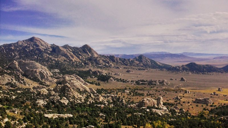 Rock Climbing Photo: View from the top of the Buzzard Perch