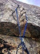 Rock Climbing Photo: P1 anchor on Dykes of Gastonia