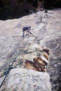 Rock Climbing Photo: Tony on p2 of Dykes of Gastonia