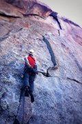 Rock Climbing Photo: JP on Animal Cracker