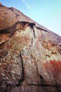 Rock Climbing Photo: JP pulling the crux on Animal Cracker