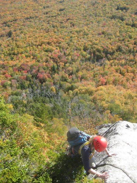 Rock Climbing Photo: Finishing VJ's route on Wheeler Mtn., VT