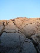 Rock Climbing Photo: Chad leading Self Abuse