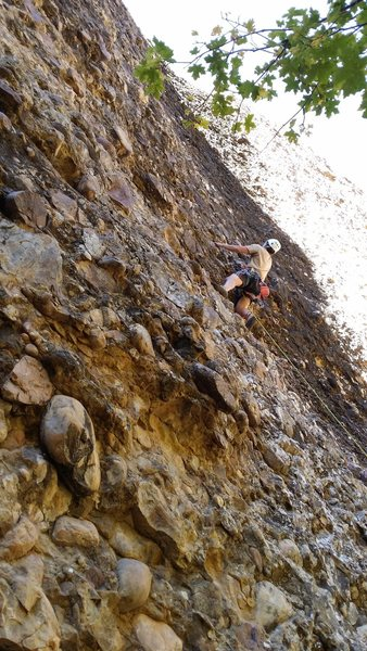 Rock Climbing Photo: Jedidiah on the sharp end of Turbo Fly.