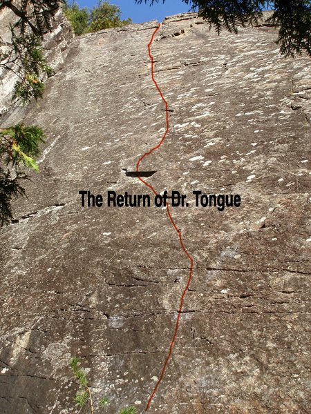 Rock Climbing Photo: The Return of Dr. Tongue