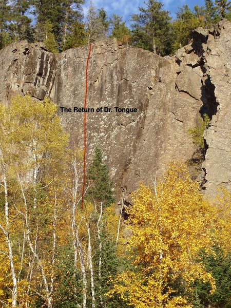 Rock Climbing Photo: The Return of Dr. Tongue (from start of boulder fi...