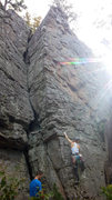 Rock Climbing Photo: Millie on her first trad lead!