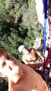 Rock Climbing Photo: A little multi pitch selfie action