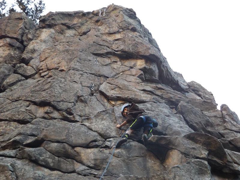 "Rock Climbing Photo: Garrett Gillest leading ""Tweety"" at age ..."