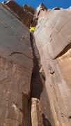 Rock Climbing Photo: First pitch, climb in the corner