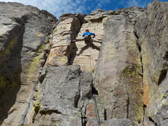 "Rock Climbing Photo: Stemming across the ""Age of Consent"""