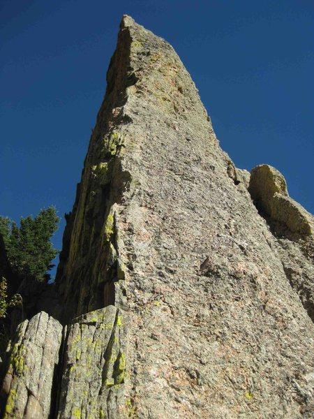 Rock Climbing Photo: The striking arete of Unknown 3.