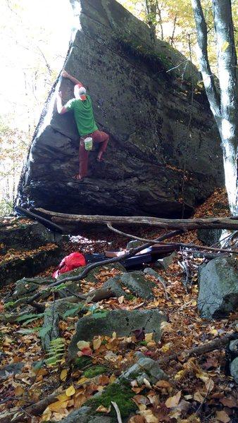 Rock Climbing Photo: Moving onto the sweeeeeeet part!