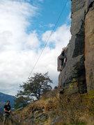 "Rock Climbing Photo: Zari on TR heading up ""CoLC"""