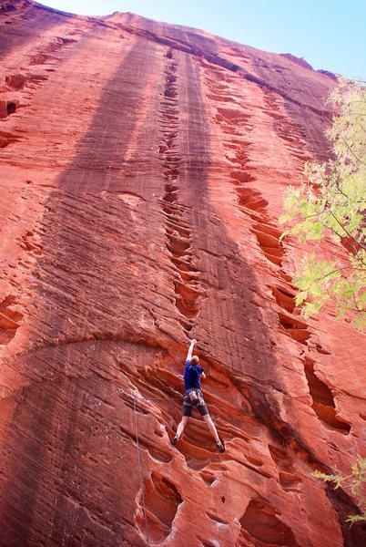 Rock Climbing Photo: Starting up Namaste!  Photo by Miguel Barbosa