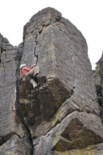 Trish Exiting the Roof into the awesome Hand Crack