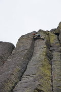 Rock Climbing Photo: OS, Topping out on Inca Road,