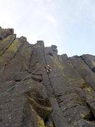 Rock Climbing Photo: Trish TR'ing Mush Maker