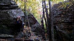 Rock Climbing Photo: Beautiful problem, beautiful setting.