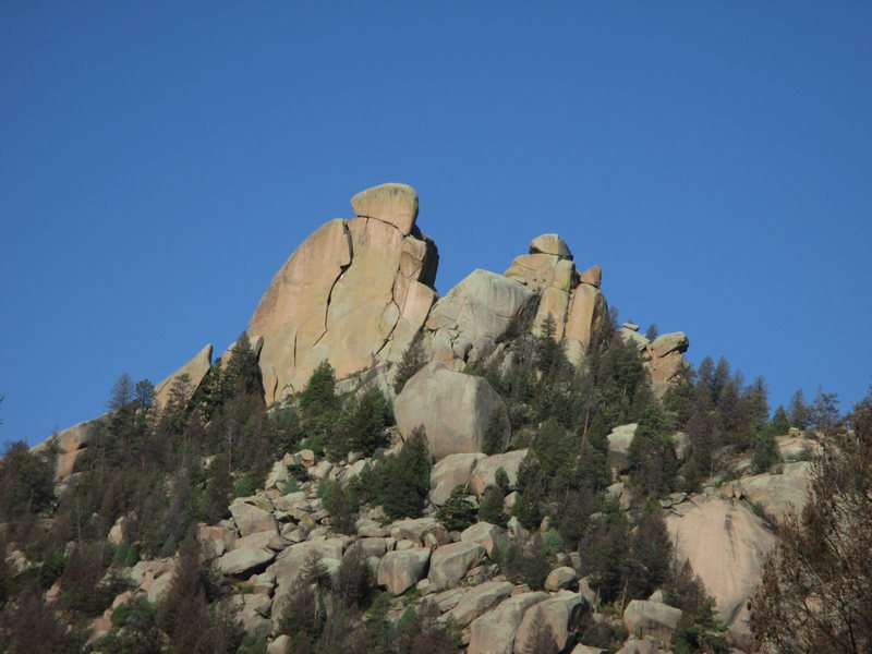 The Bishop as seen from the approach to Sunshine Wall (telephoto).<br> <br> Photo: Tony B., 9/2015.