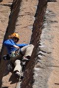 Rock Climbing Photo: Leading up Air Guitar