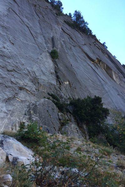 Rock Climbing Photo: Approaching the climb