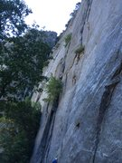 Rock Climbing Photo: At crux of route