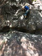 Rock Climbing Photo: Joel on the lead of Grand Inquisitor