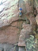 Rock Climbing Photo: Joel Starting up a lead of Cheetah