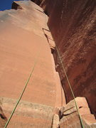 Rock Climbing Photo: Good Excuse 5.9 - Reservoir Wall - Indian Creek