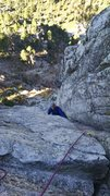 Rock Climbing Photo: Geordan coning up P2