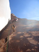 Rock Climbing Photo: Jeff H on lead of Twin Cracks