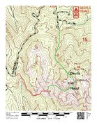 Approach map. Red shows the easiest approach to Jungle Wall. Green shows the approach we took in by trying to follow the currently posted approach descriptions, in conjunction with the comments here. <br /> <br />If you try to follow the approach instructions on this page, you will hike at least an extra mile and several hundred more vertical feet up and down, bushwhacking, in ridiculously difficult route finding terrain. The directions deposit you far, far from the Jungle Wall with no further discernible directions. <br /> <br />It took us 2.5 hours to find the Jungle Wall on our way in (green). It took about 30 minutes to hike out via the red trail, where we should have parked. There is a great climber's trail that contours above the drainage on the backside of Wipeyur Buttress, then traverses east below Wipeyur Buttress/slabs to reach the gully draining Wipeyur Buttress, Jungle, Training Grounds, etc. It's a short hike to the base from here. <br /> <br />Save yourself the effort, and park at the small pullout on Rampart Range Road around 8,940' before the road takes a hard turn west and then northwest prior to a hairpin turn. This is practically the same approach information on Wipeyur Buttress' page.
