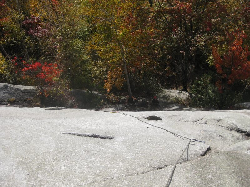 Rock Climbing Photo: Coming up to first bolt. Later I was a bit sad at ...