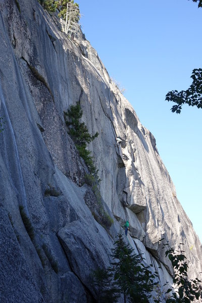 Rock Climbing Photo: Ray and Will working the project (2nd pitch went a...