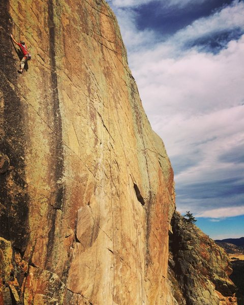 Rock Climbing Photo: Shaun Reed during the FA.