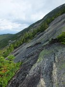Rock Climbing Photo: Looking north from about midway up the slide. Lots...