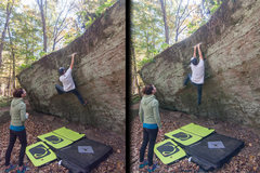 Rock Climbing Photo: Juicy Fruit (V3) -- Just south of Dog Walk Access,...