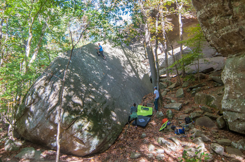 Yosemite slab, with Brian and Deann manning the pads just in case