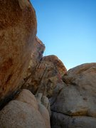 Rock Climbing Photo: Looking up at Fractured Fissure after using the Ra...