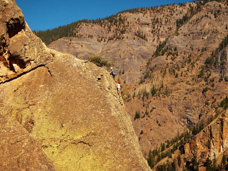 Stellar day in Red Mountain Creek Gorge, 10/12/15.
