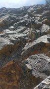 Rock Climbing Photo: Eddie Medina doing the FA.